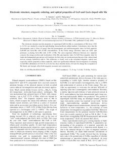 Electronic structure, magnetic ordering, and optical properties of GaN ...