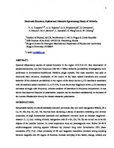 Electronic Structure, Optical and Dielectric Spectroscopy Study