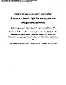 Electronic Supplementary Information Shaping excitons in light