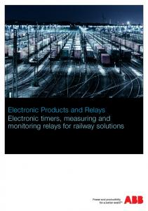Electronic timers, measuring and monitoring relays for railway ...