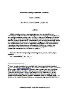 Electronic Titling: Potential and Risks - SSRN papers