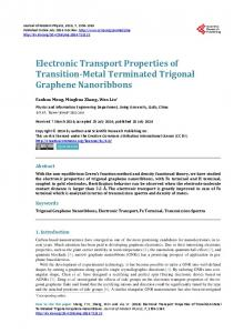 Electronic Transport Properties of Transition-Metal Terminated ...