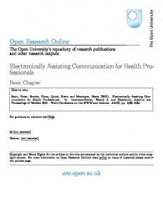 Electronically Assisting Communication for Health Professionals