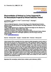 Electrooxidation of Methanol on Carbon Supported Pt- Ru ...