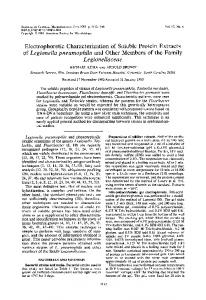 Electrophoretic Characterization of Soluble Protein Extracts of