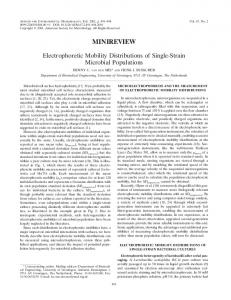Electrophoretic Mobility Distributions of Single-Strain Microbial ...