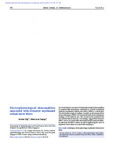 Electrophysiological abnormalities associated with ...