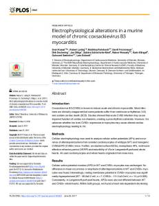 Electrophysiological alterations in a murine model