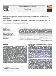 Electrophysiological and functional connectivity of the ... - BrainMap.org