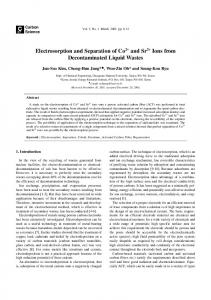 Electrosorption and Separation of Co2+ and Sr2+ Ions from