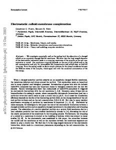 Electrostatic colloid-membrane complexation