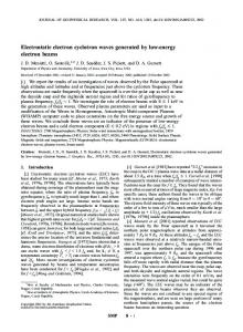 Electrostatic electron cyclotron waves generated by low-energy ...
