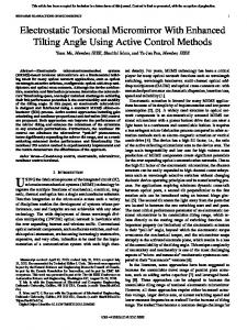 Electrostatic Torsional Micromirror With Enhanced ... - IEEE Xplore