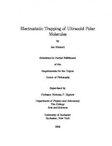 Electrostatic Trapping of Ultracold Polar Molecules - Laboratory for ...