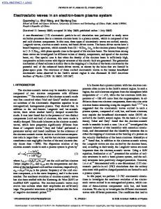 Electrostatic waves in an electron-beam plasma system