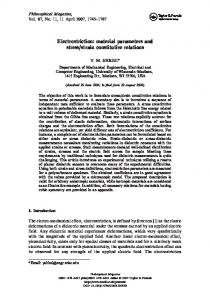 Electrostriction: material parameters and stress/strain constitutive ...