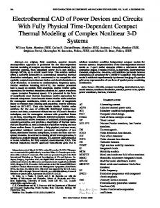 Electrothermal CAD of power devices and circuits with ... - IEEE Xplore