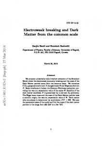 Electroweak breaking and Dark Matter from the common scale arXiv ...
