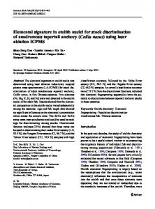 Elemental signature in otolith nuclei for stock discrimination of ...