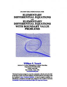 elementary differential equations elementary
