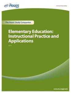 Elementary Education: Instructional Practice and Applications - ETS