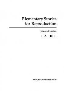 Elementary Stories for Reproduction