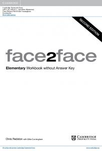 Elementary Workbook without Answer Key