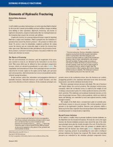 Elements of Hydraulic Fracturing - Schlumberger