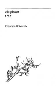 elephant tree - Chapman University