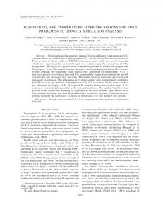 elevated co2 and temperature alter the response of pinus ... - www7