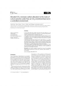 Elevated CO2 increases carbon allocation to the ... - Wiley Online Library