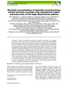Elevated concentrations of naturally occurring ... - Wiley Online Library