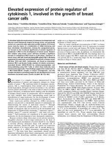 Elevated expression of protein regulator of ... - Wiley Online Library