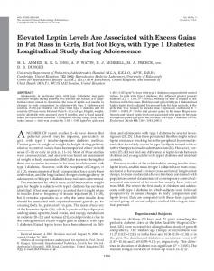 Elevated Leptin Levels Are Associated with Excess ... - Oxford Journals