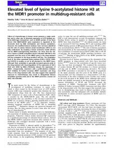 Elevated level of lysine 9acetylated histone H3 ... - Wiley Online Library