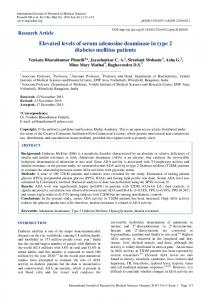 Elevated levels of serum adenosine deaminase in type 2 ... - eJManager