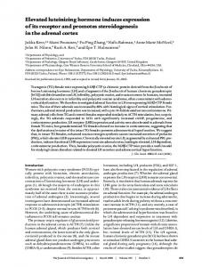 Elevated luteinizing hormone induces expression ... - Semantic Scholar