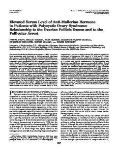 Elevated Serum Level of Anti-Mullerian Hormone in Patients with ...