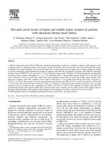 Elevated serum levels of leptin and soluble ... - Wiley Online Library