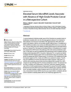Elevated Serum MicroRNA Levels Associate with Absence of ... - PLOS