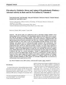 Elevation by Oxidative Stress and Aging of ... - BioMedSearch