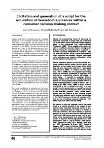 Elicitation and generation of a script for the ... - Semantic Scholar