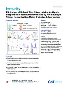 Elicitation of Robust Tier 2 Neutralizing Antibody Responses in ...