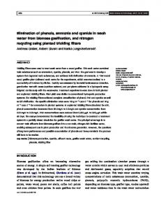 Elimination of phenols, ammonia and cyanide in wash water from ...