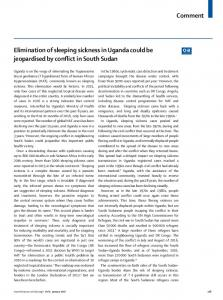 Elimination of sleeping sickness in Uganda could be ... - The Lancet