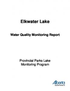 Elkwater Lake - Open Government Portal