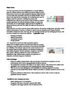 Ellipse Scada To create supervisory and control applications on ... - 2