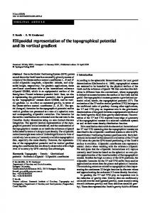 Ellipsoidal representation of the topographical potential and its ... - UNB