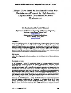 Elliptic Curve based Authenticated Session Key Establishment ...