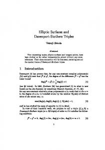 Elliptic Surfaces and Davenport-Stothers Triples